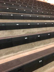 bleacher seats at Bethel Park High School