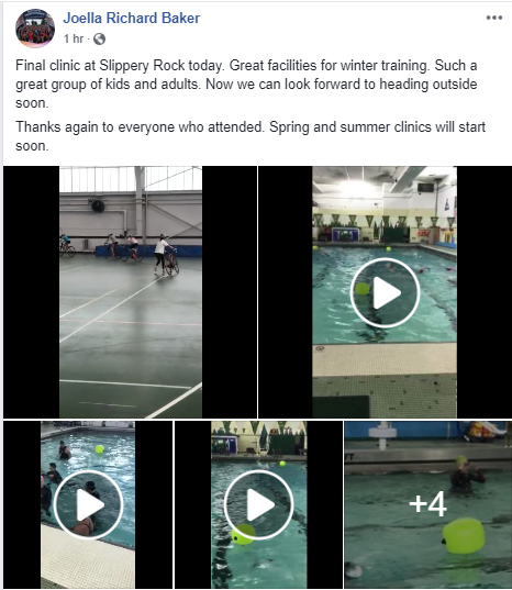 Videos and images of an indoor Tri workout with work on transitions in the gym