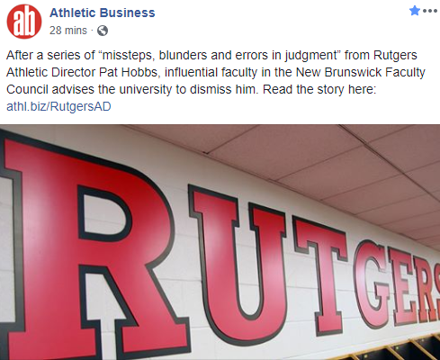 Fire the AD at Rutgers