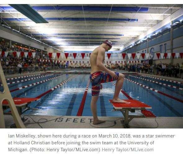 Photo of swimmer at blocks