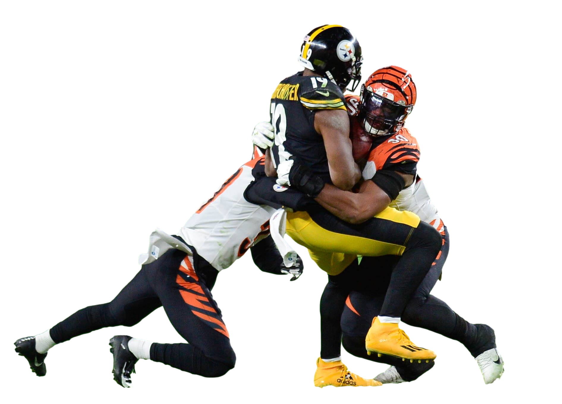 Football tackle of JuJu