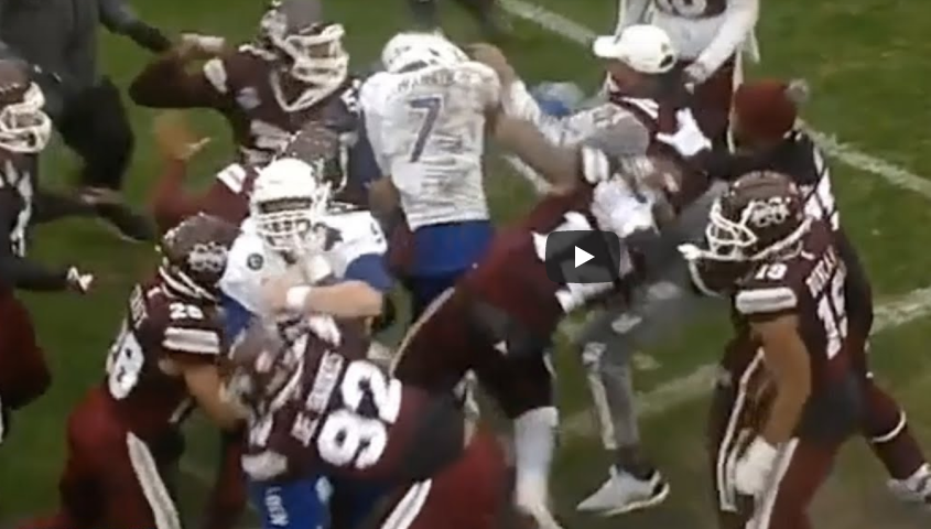 Football post-bowl game brawl