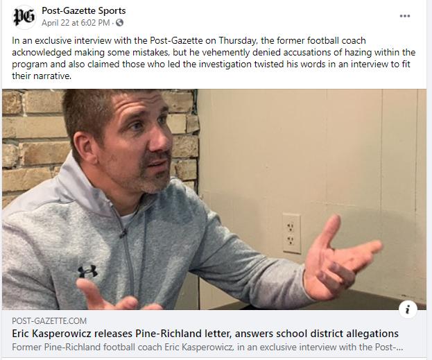 PT football coach tries to retain job